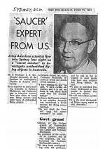 Professor James E Mc Donald Arrives in Sydney, Australia (SMH 25 June 1967)
