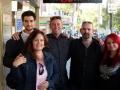 Damien Nott, Melissa, Liam, Shrub and Moni (L to R) outside Club Burwood on 6 June 2015