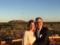 Tracey and Richard at their Uluru Wedding.